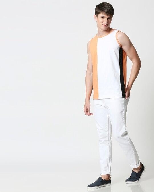 Shop Orange Rush Colorblock Vest