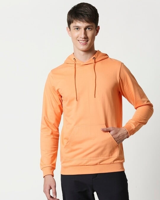 Shop Orange Rush Fleece Hoodie-Design