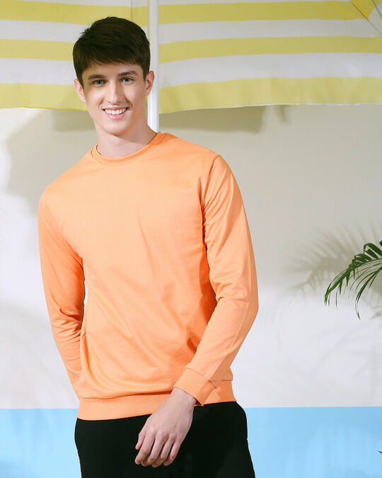 Shop Orange Rush Fleece Sweater-Front