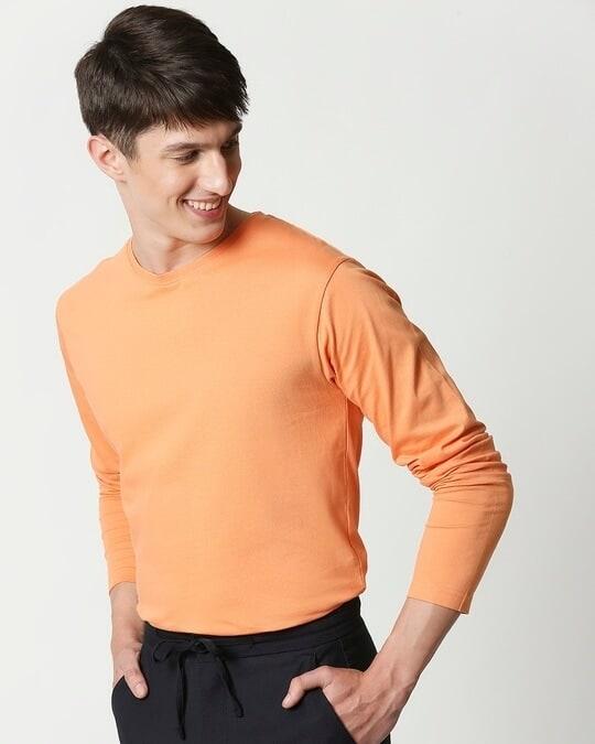 Shop Orange Rush Full Sleeves T-Shirt-Back