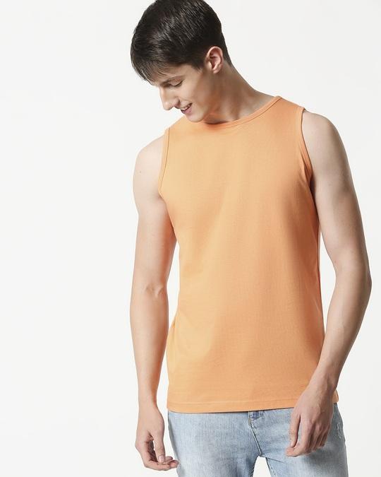 Shop Orange Rush Round Neck Vest-Front