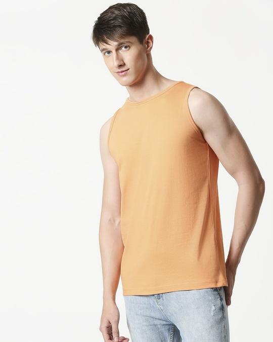 Shop Orange Rush Round Neck Vest-Design
