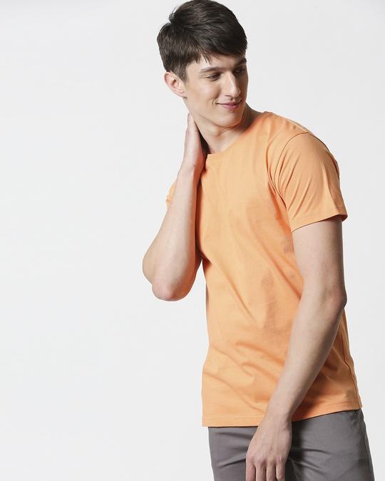 Shop Orange Rush Half Sleeves T-Shirt-Back