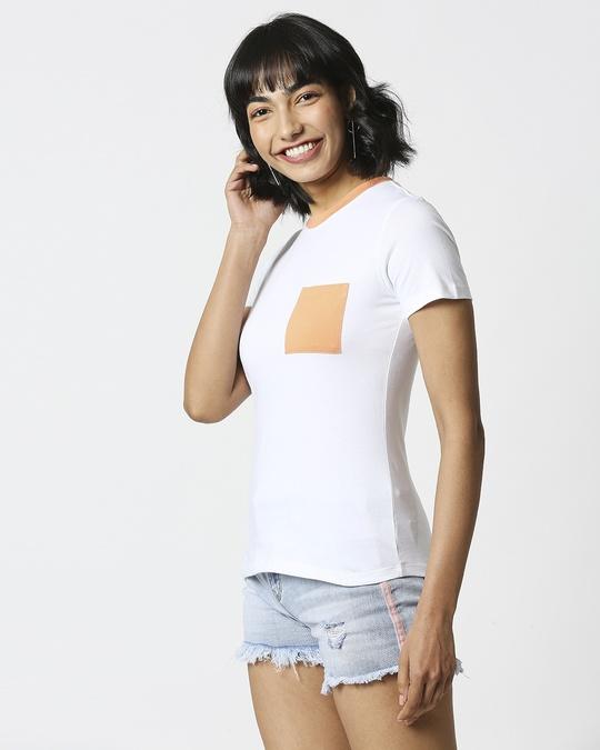 Shop Orange Rush Pocket Half Sleeves T-Shirt-Full