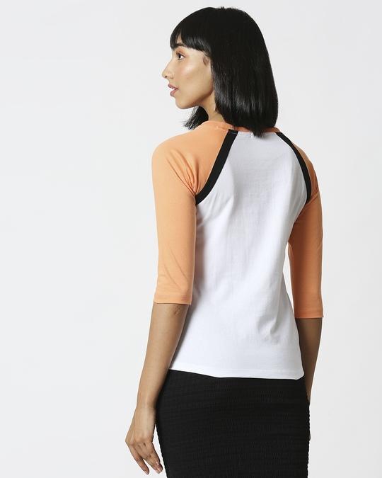 Shop Orange Rush Raglan Sleeves T-Shirt-Full