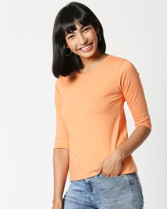 Shop Orange Rush 3/4 Sleeves T-Shirt-Design