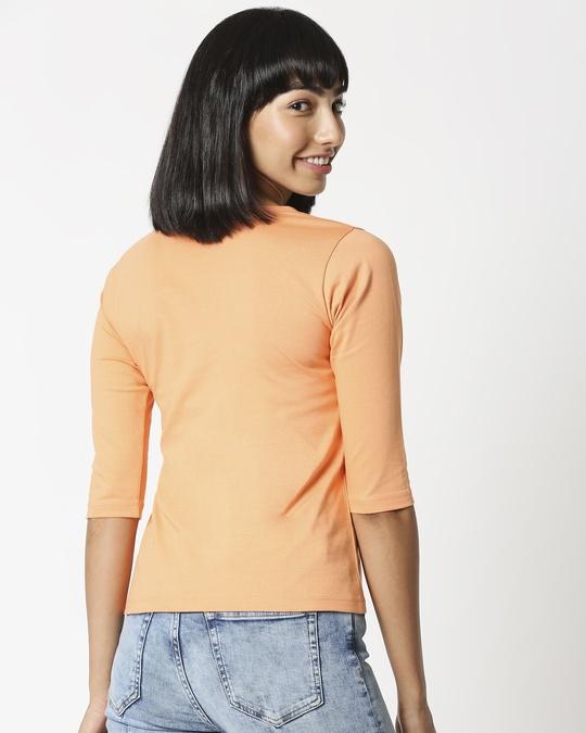 Shop Orange Rush 3/4 Sleeves T-Shirt-Full