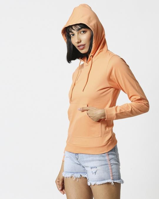 Shop Orange Rush Fleece Hoodie-Full