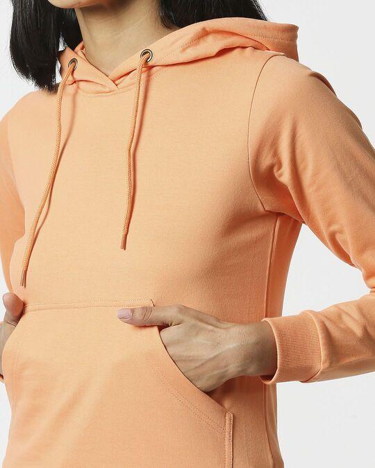 Shop Orange Rush Fleece Hoodie