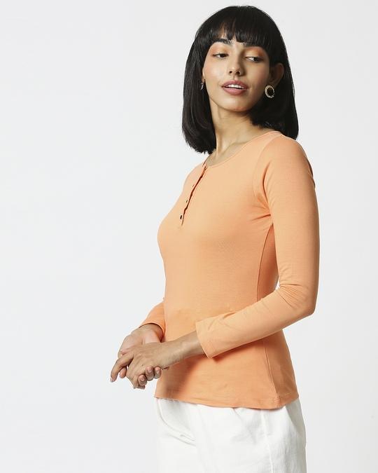 Shop Orange Rush Full Sleeves Henley T-Shirt-Design
