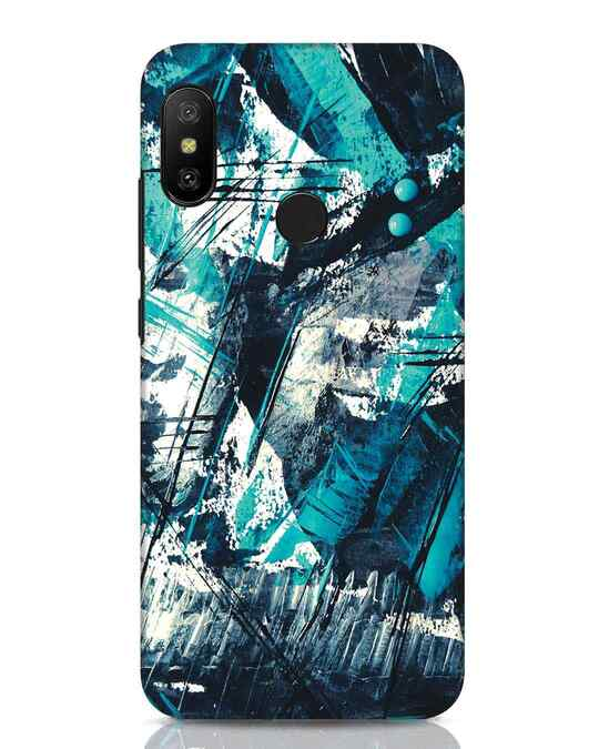 Shop Modern Abstract Poster Xiaomi Redmi Note 6 Pro Mobile Cover-Front