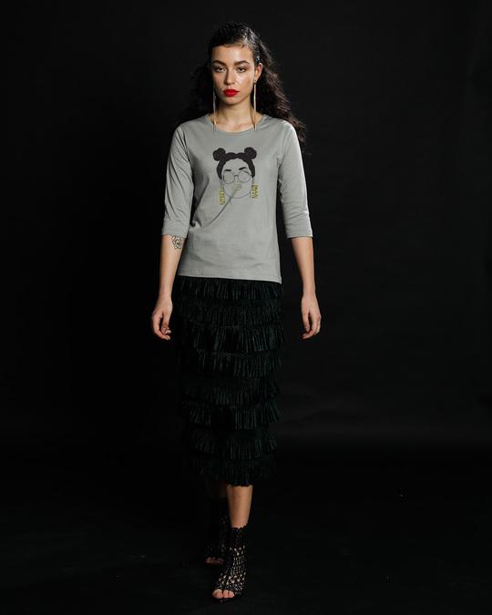 Shop Modern Naari Round Neck 3/4th Sleeve T-Shirt-Design