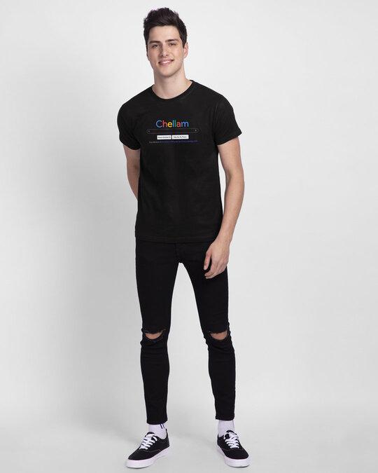 Shop Chellam Unisex Black Half Sleeve T Shirt-Full