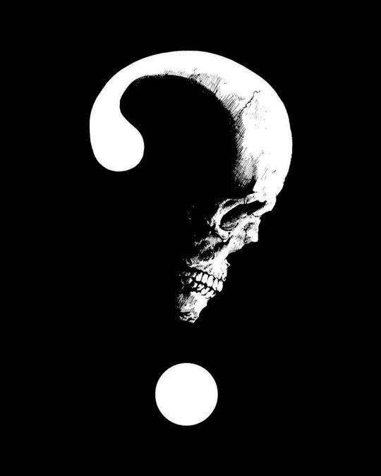 Shop Question Mark Skull Half Sleeve T Shirt-Full