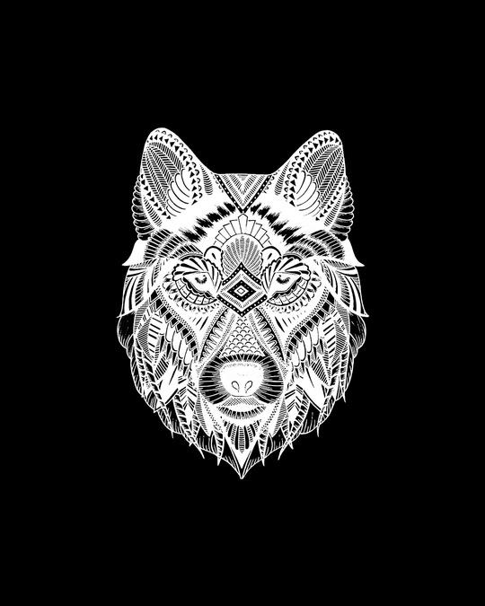 Shop Wolf Doodle Men Hoodies-Design