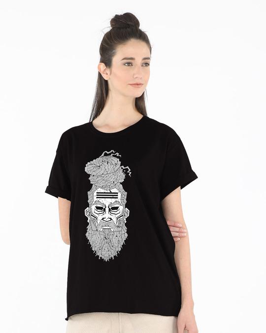 Shop Moksha Boyfriend T-Shirt-Front