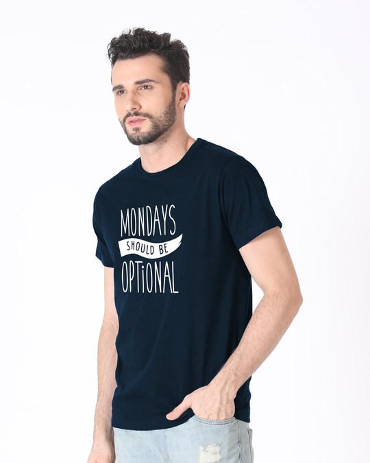 Shop Monday Blues Half Sleeve T-Shirt-Design