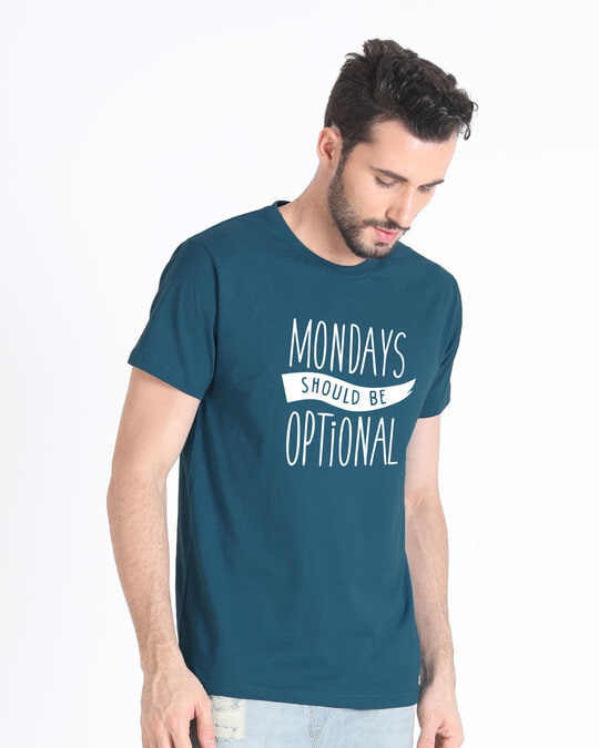 Shop Monday Blues Half Sleeve T-Shirt-Full