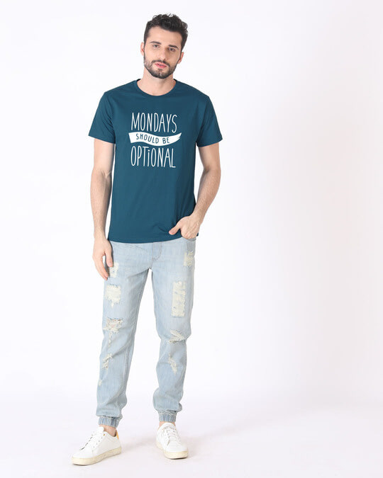 Shop Monday Blues Half Sleeve T-Shirt