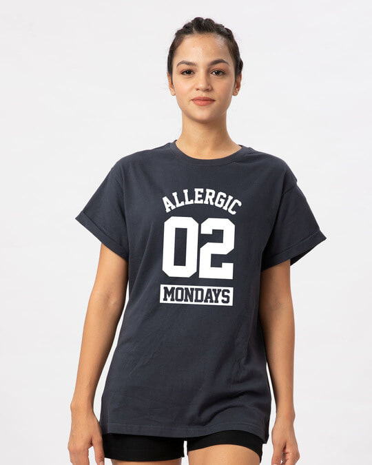 Shop Monday Fever Boyfriend T-Shirt-Front