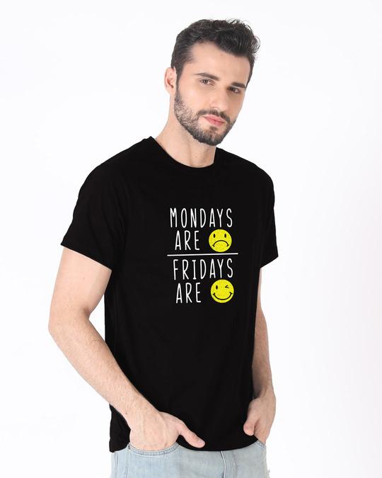 Shop Monday Friday Half Sleeve T-Shirt-Full
