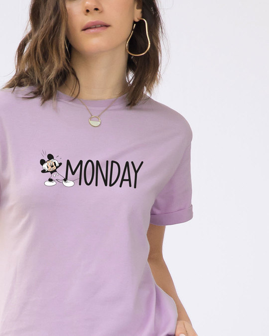 Shop Monday Mickey Boyfriend T-Shirt (DL)-Front