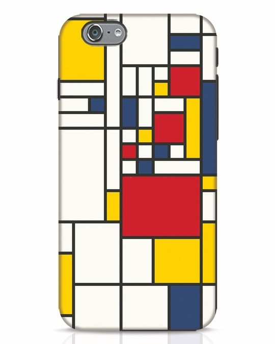 Shop Mondrian iPhone 6s Mobile Cover-Front