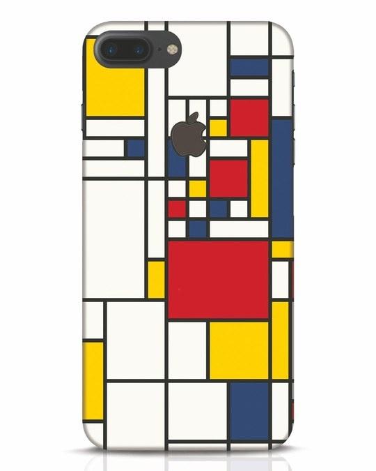Shop Mondrian iPhone 7 Plus Logo Cut Mobile Cover-Front