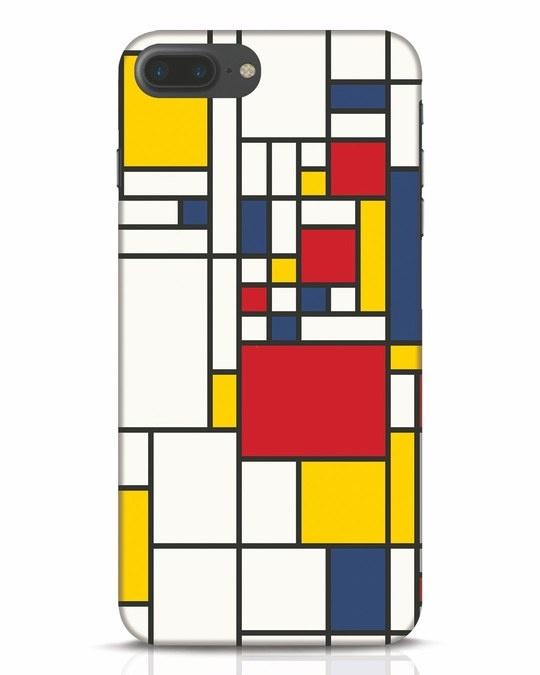 Shop Mondrian iPhone 7 Plus Mobile Cover-Front