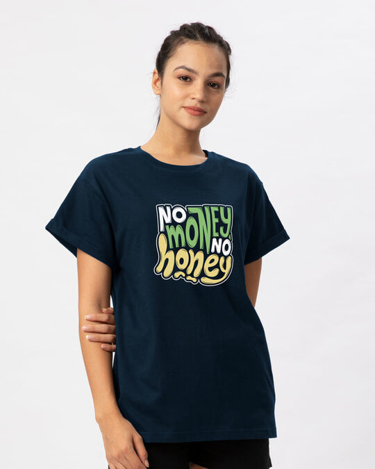 Shop Money Honey Boyfriend T-Shirt-Back