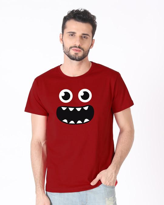 Shop Monster Smiley Half Sleeve T-Shirt-Back