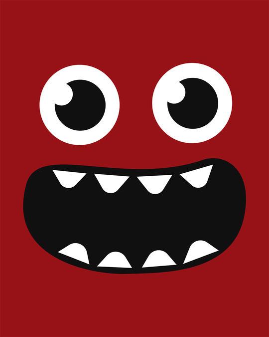 Shop Monster Smiley Half Sleeve T-Shirt