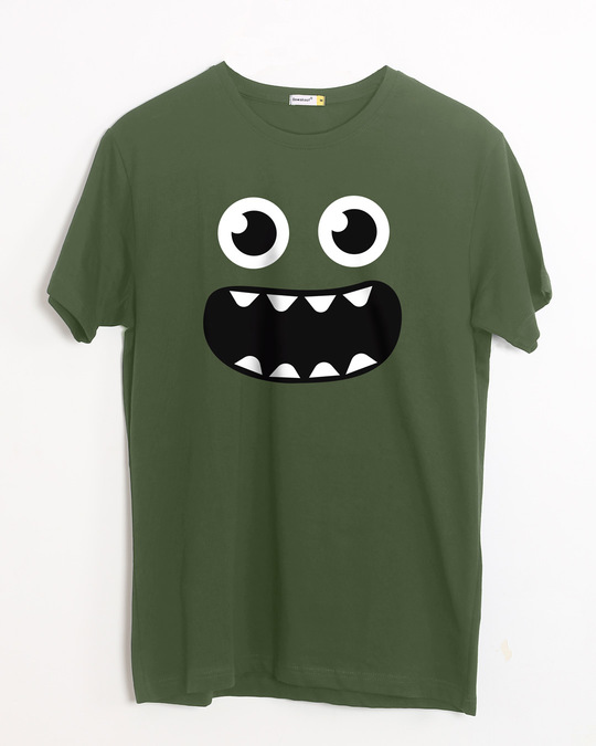 Shop Monster Smiley Half Sleeve T-Shirt-Front