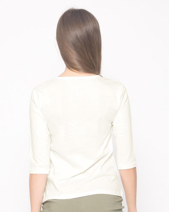 Shop Mood 24x7 Round Neck 3/4th Sleeve T-Shirt-Back