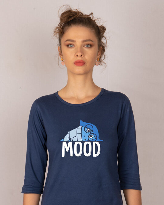 Shop Mood Sadness 3/4th Sleeve T-Shirt (DL)-Front