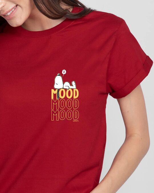 Shop Mood ZZZ Boyfriend T-Shirt (PNTL) Bold Red-Front