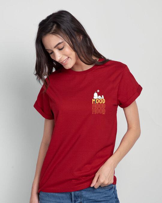 Shop Mood ZZZ Boyfriend T-Shirt (PNTL) Bold Red-Back