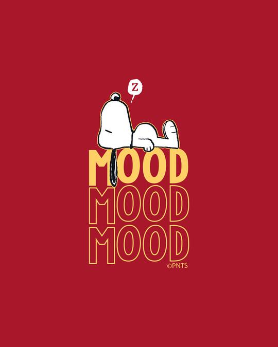Shop Mood ZZZ Full Sleeve T-Shirt (PNTL) Bold Red