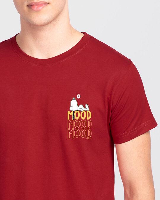 Shop Mood ZZZ Half Sleeve T-Shirt (PNTL) Bold Red-Front