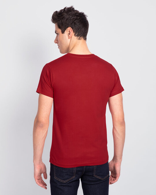 Shop Mood ZZZ Half Sleeve T-Shirt (PNTL) Bold Red-Design