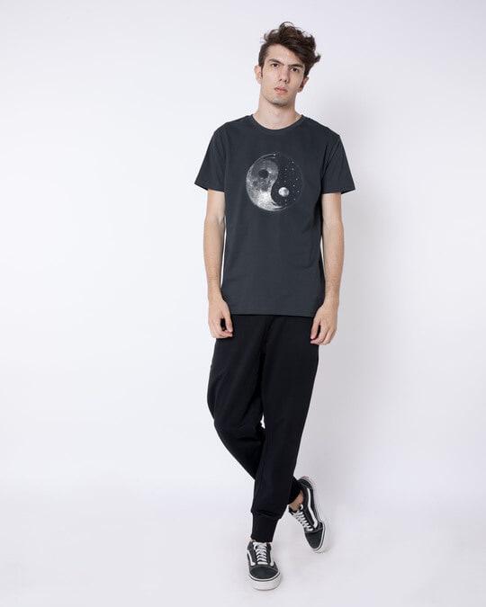 Shop Moon And Stars Yin Yang Half Sleeve T-Shirt