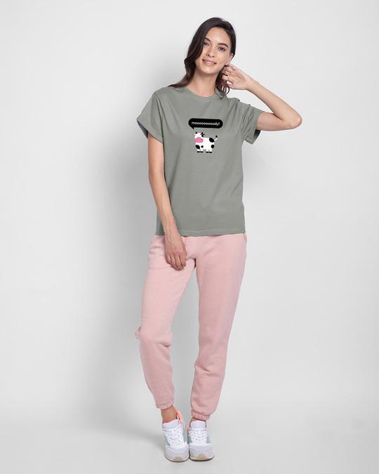 Shop Mooody Boyfriend T-Shirt Meteor Grey-Design