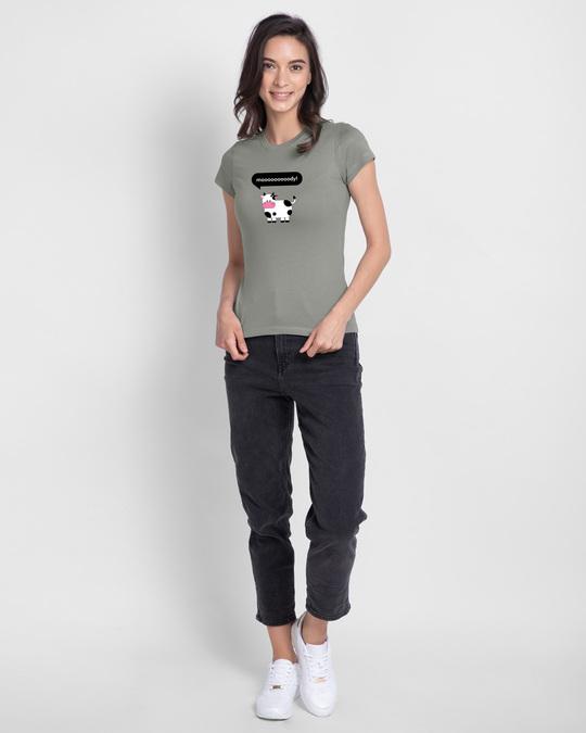 Shop Mooody Half Sleeve Printed T-Shirt Meteor Grey-Design