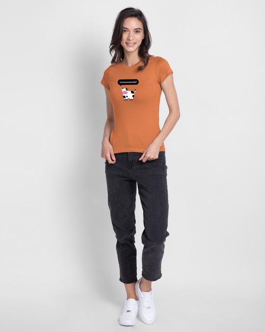 Shop Mooody Half Sleeve Printed T-Shirt Vintage Orange-Design
