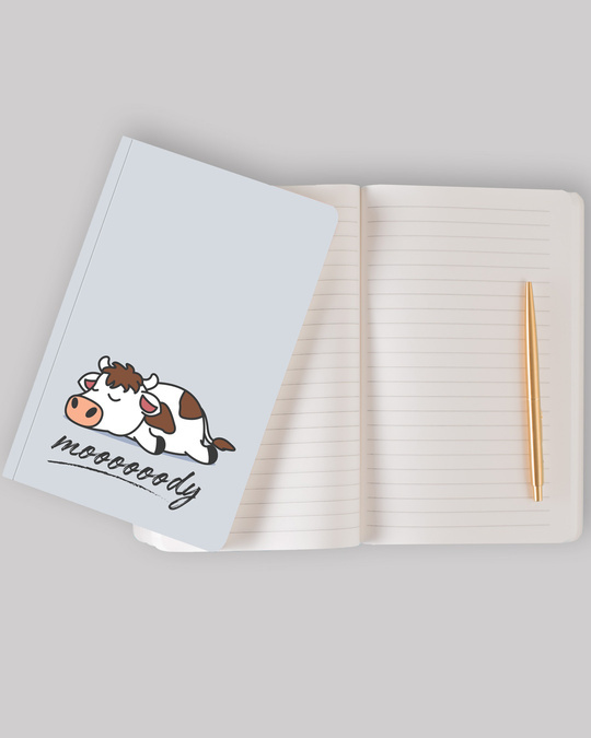 Shop Mooooody Notebook-Back