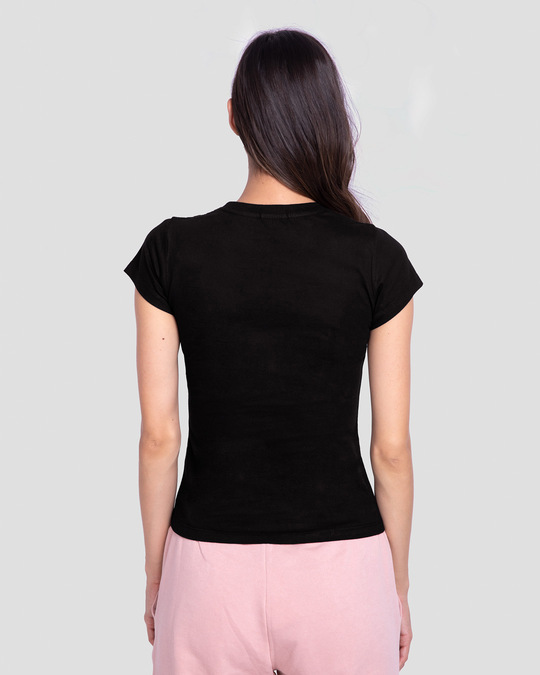 Shop More Eco Half Sleeve Printed T-Shirt Black-Back