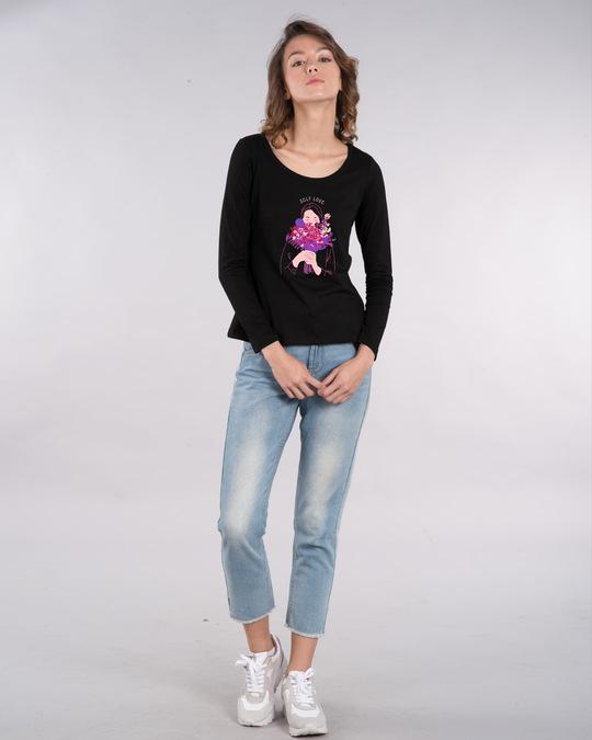 Shop More Self Love Scoop Neck Full Sleeve T-Shirt-Design