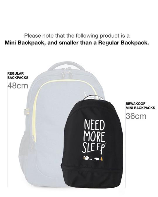 Shop More Sleep Small Backpack-Back