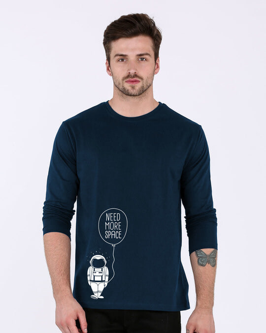 Shop More Space Full Sleeve T-Shirt-Front