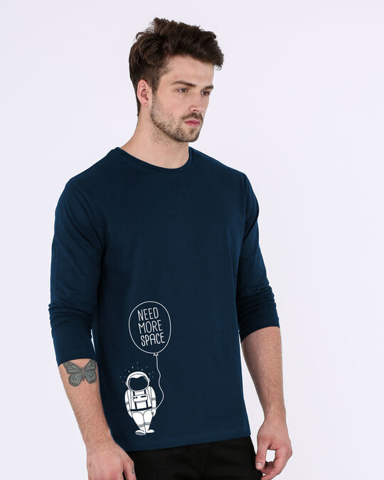 Shop More Space Full Sleeve T-Shirt-Back